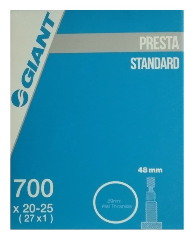 Chambre air v lo route giant butyl 700 x 20 25 presta for Chambre a air velo route