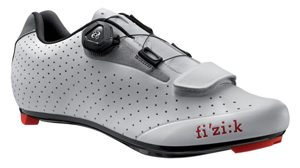 dernières conceptions diversifiées site officiel double coupon Chaussures Vélo de Route Fizik R5B Uomo Blanc Gris