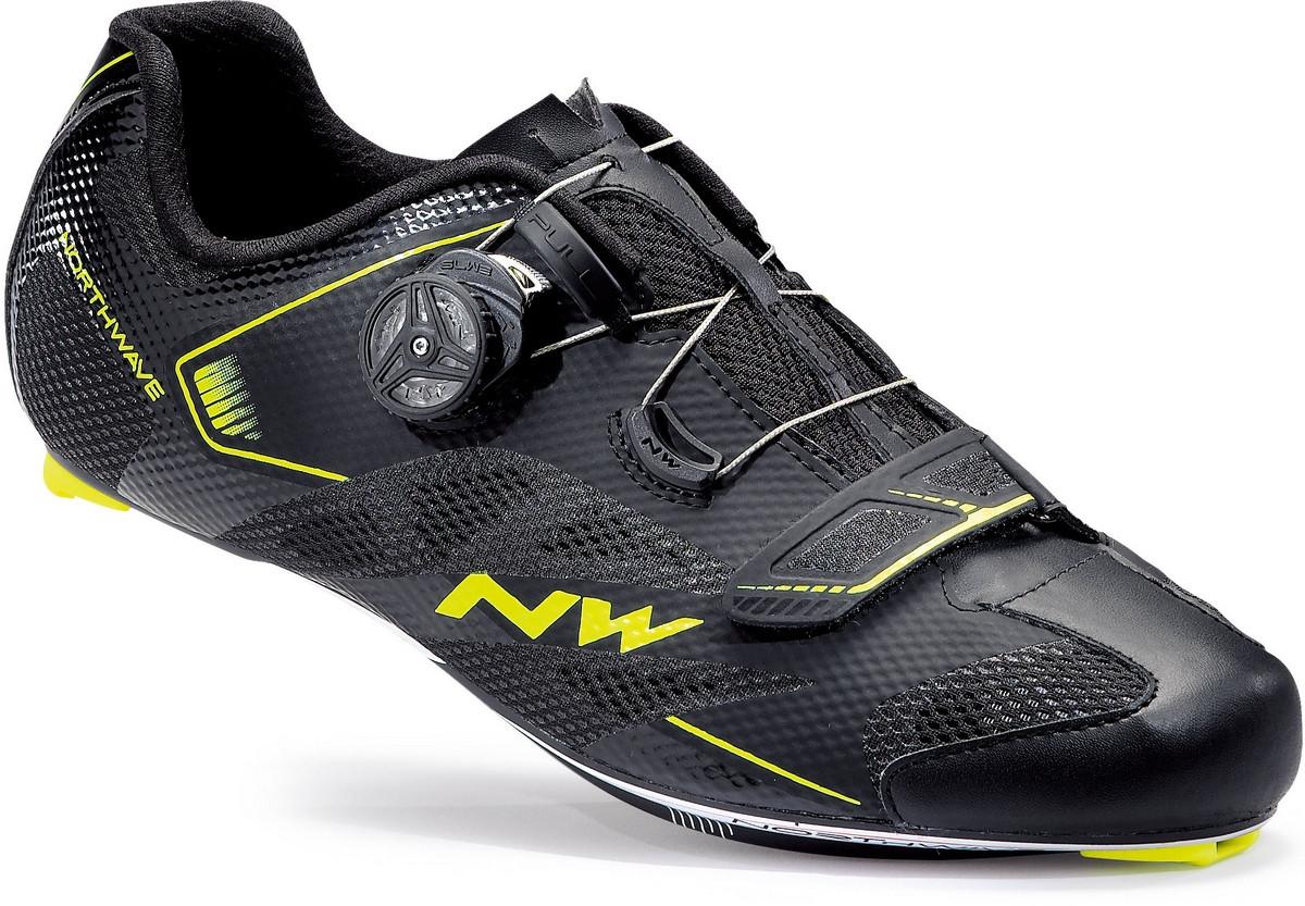 Plus Jaune Vélo Route 2 Chaussures Northwave Sonic Noir FcuTKl1J3
