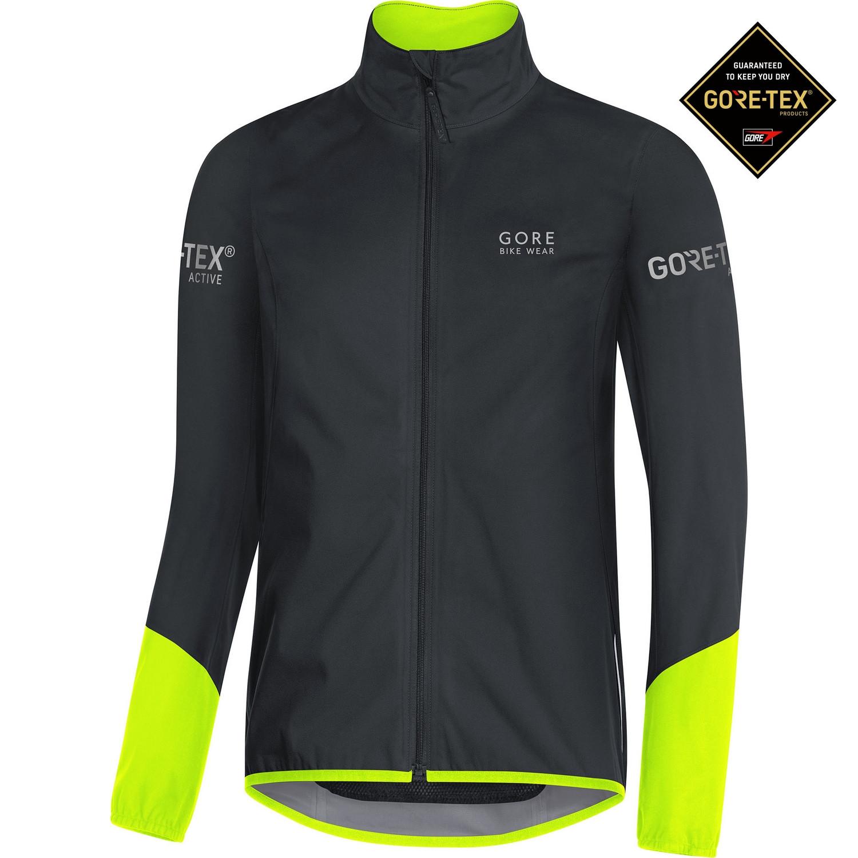 detailing really cheap discount Veste vélo de pluie Gore Power Gore-Tex Active Noir Jaune