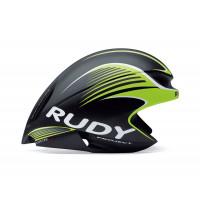 Casque Vélo Profilé Rudy Project Wing 57 Noir et Lime Fluo