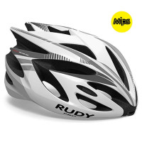 Casque Vélo de Route et VTT Rudy Project Rush Mips blanc argent