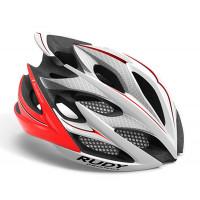Casque Vélo de Route et VTT Rudy Project Windmax Blanc Rouge Fluo