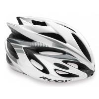 Casque Vélo de Route et VTT Rudy Project Rush blanc argent