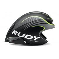 Casque Vélo Profilé Rudy Project Wing 57 Noir et Jaune Fluo