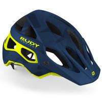 Casque Vélo VTT Enduro Rudy Project Protera Bleu Camo Jaune Fluo