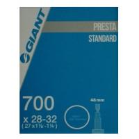 Chambre à air vélo route et VTC Giant Butyl 700 x 28-32 Presta 48mm