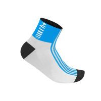 Chaussettes de vélo Zero Rh Fuego 6 Sock bleu blanc