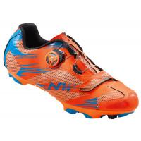 Chaussures vélo VTT NorthWave Scorpius 2 Plus Orange Bleu