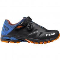 Chaussures vélo VTT NorthWave Spider Plus 2 noir bleu orange