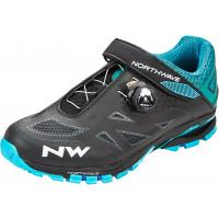 Chaussures vélo VTT NorthWave Spider Plus 2 noir bleu turquoise