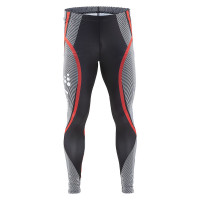 Collant Ski de Fond Running Craft Race Noir Rouge Blanc