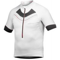 Craft Elite Maillot Vélo de Route et VTT Blanc Noir