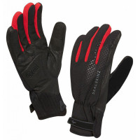 Gants de Vélo Hiver Sealskinz All Weather Cycle XP Noir Rouge