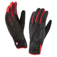 Gants de Vélo Hiver Sealskinz Brecon XP Imperméables Noir Rouge