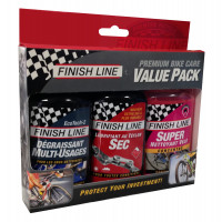 Kit d'entretien Vélo Finish Line Value Pack 3x120mL
