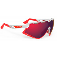 Lunettes Vélo Rudy project Defender Blanc Brillant Bumpers Rouge Multilaser