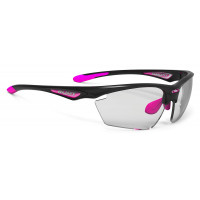 Lunettes Vélo Rudy project Stratofly Black Gloss Pink Photochromiques