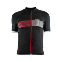 Maillot de vélo Craft Verve Glow Noir Rouge Blanc