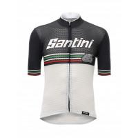 Maillot de vélo Santini Beat Blanc Noir