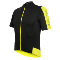 Maillot de vélo Zero Rh Energy Jersey FZ noir jaune
