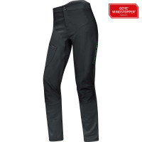 Pantalon de vélo Gore Power Trail Windstopper Soft Shell 2 en 1 Noir