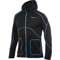 Sweat Outdoor et Running Craft Capuche Zippé Homme Noir Bleu