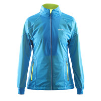 Veste Ski de Fond Running Craft High Function Dame Bleu Jaune