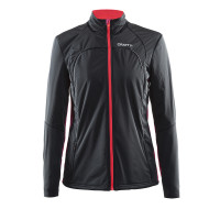 Veste Ski de Fond Craft Tempete Dame Noir Ruby Crush