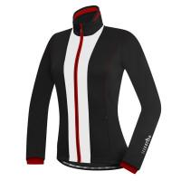 Veste vélo hiver femme Zero Rh Evo W Jacket noir blanc rouge