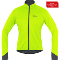 Veste vélo hiver Gore Power 2.0 Windstopper Soft Shell Jaune Noir