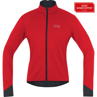 Veste vélo hiver Gore Power 2.0 Windstopper Soft Shell Rouge Noir