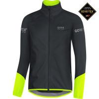 Veste vélo de pluie Gore Power Gore-Tex Active Noir Jaune