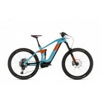 Velo VTT Electrique Cube Stereo 160 HPC 27.5 SL Bosch 625Wh Bleu Orange