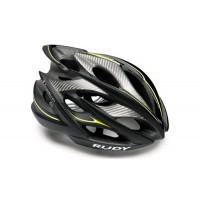 Casque Vélo de Route et VTT Rudy Project Windmax Noir Jaune Fluo Mat