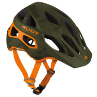 Casque Vélo VTT Enduro Rudy Project Protera Vert Camo Orange