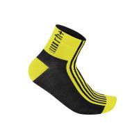 Chaussettes de vélo Zero Rh Fuego 6 Sock jaune noir