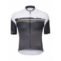 Maillot de vélo Santini Sleek Plus Blanc Gris