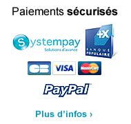 Paiements sécurisés avec la Banque Populaire et Paypal